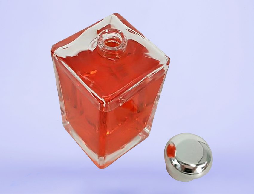 Red Glass Perfume Bottle