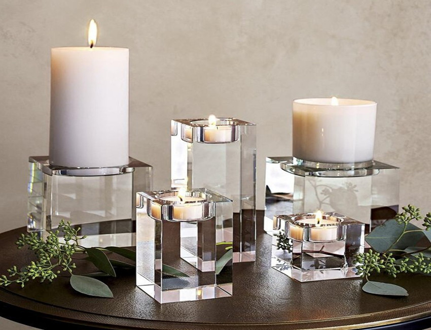 Square Glass Candle Jar