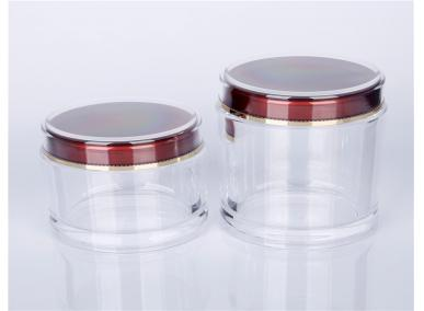 Clear Plastic Airless Jar
