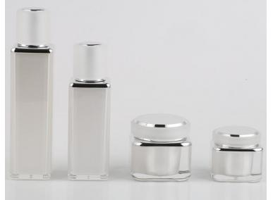 White Cosmetic Jars