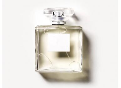 Clear Square Glass Perfume Bottle