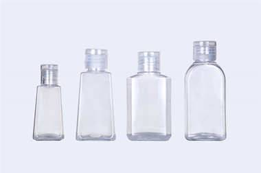 Empty Clear PET Plastic Bottle for Gel Hand Sanitizer
